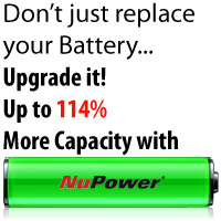 Up to 78% more capacity with NuPower Replacement Batteries image