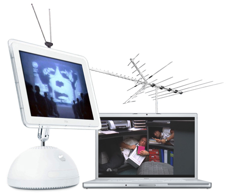 ... via the digital antenna/aerial input. That includes 720p and 1080i  signals. A Dual G5 or Core Duo Mac is needed to properly display HDTV  signals.