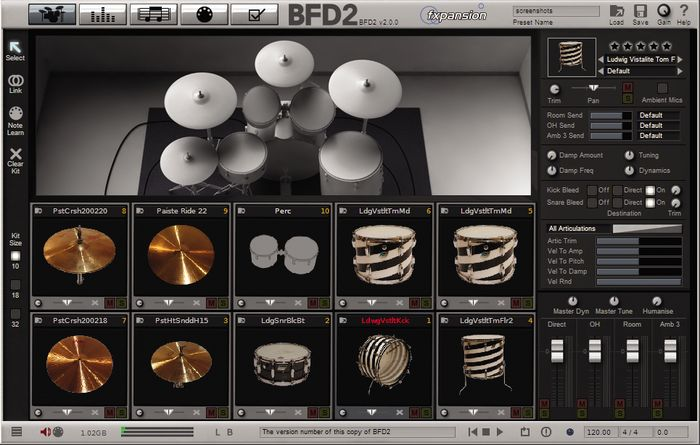 BFD2 Main Interface Page