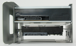 Hard Drive installed into the 2nd optical bay of a Mac Pro 'Nehalem' machine.