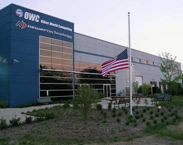 OWC's flag at half-mast
