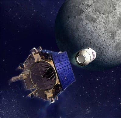 The Search For Water (LCROSS image courtesy of NASA)