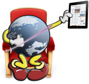 iPad-globe