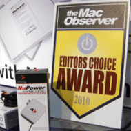NuPower Charge & Sync+ wins an Editor's Choice Award from the Mac Observer