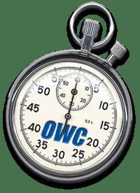 Stopwatch with OWC logo