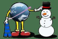 Globe-Snowman