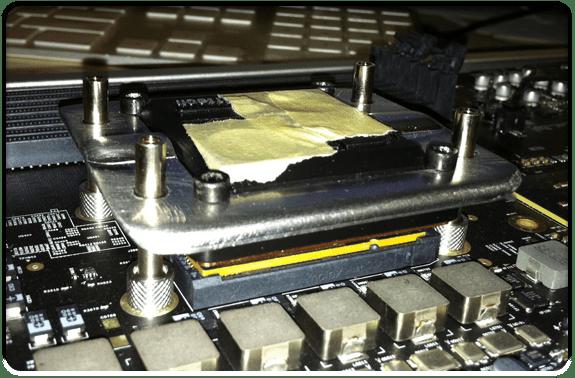 A Swifttech GTZ on a MacPro4,1 processor