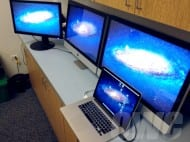 MacBook Pro with Retina using 3 external monitors
