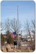 Flaggoingup