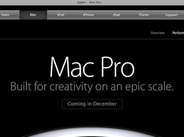 It's December, but still no new Mac Pro.
