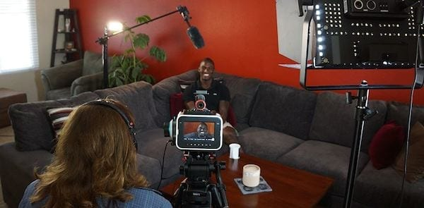 On Set: The one-person cinematography crew, Cirina Catania, captures Kionte's thoughts, experiences and New Life using a Blackmagic Cinema Camera and OWC's Pro 6G SSD. Kionte and Cirina both hope the documentary will become a series of films focused on helping others returning from combat and to help friends and family members understand and assist returning service men and women overcome their physical and mental challenges.