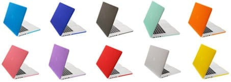 The NewerTech  NuGuard Snap-On Laptop Cover comes in a rainbow of colors.