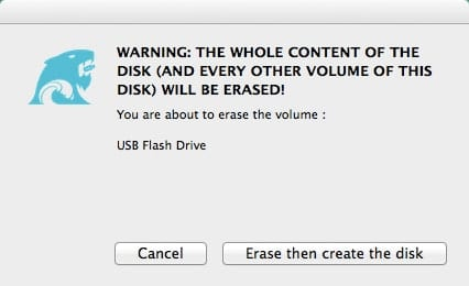 Disk Erase Warning