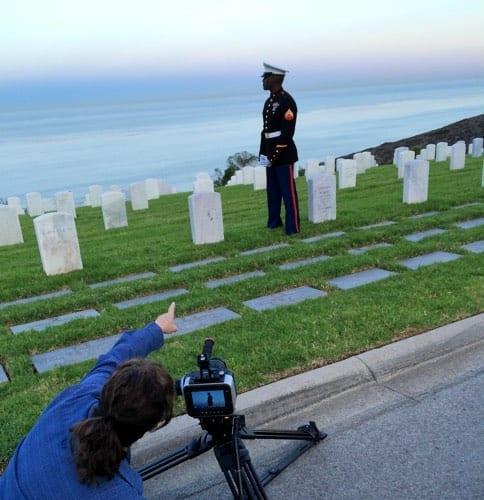 Cirina directs Kionte at Pt Loma cemetery_2014-10-06 06.51.01 copy