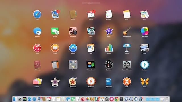 Launchpad on an iMac