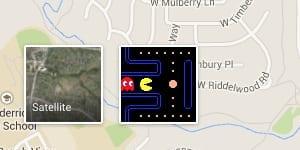 Google Maps Pac-Man Button