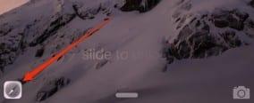 Handoff button on iPhone Lock Screen