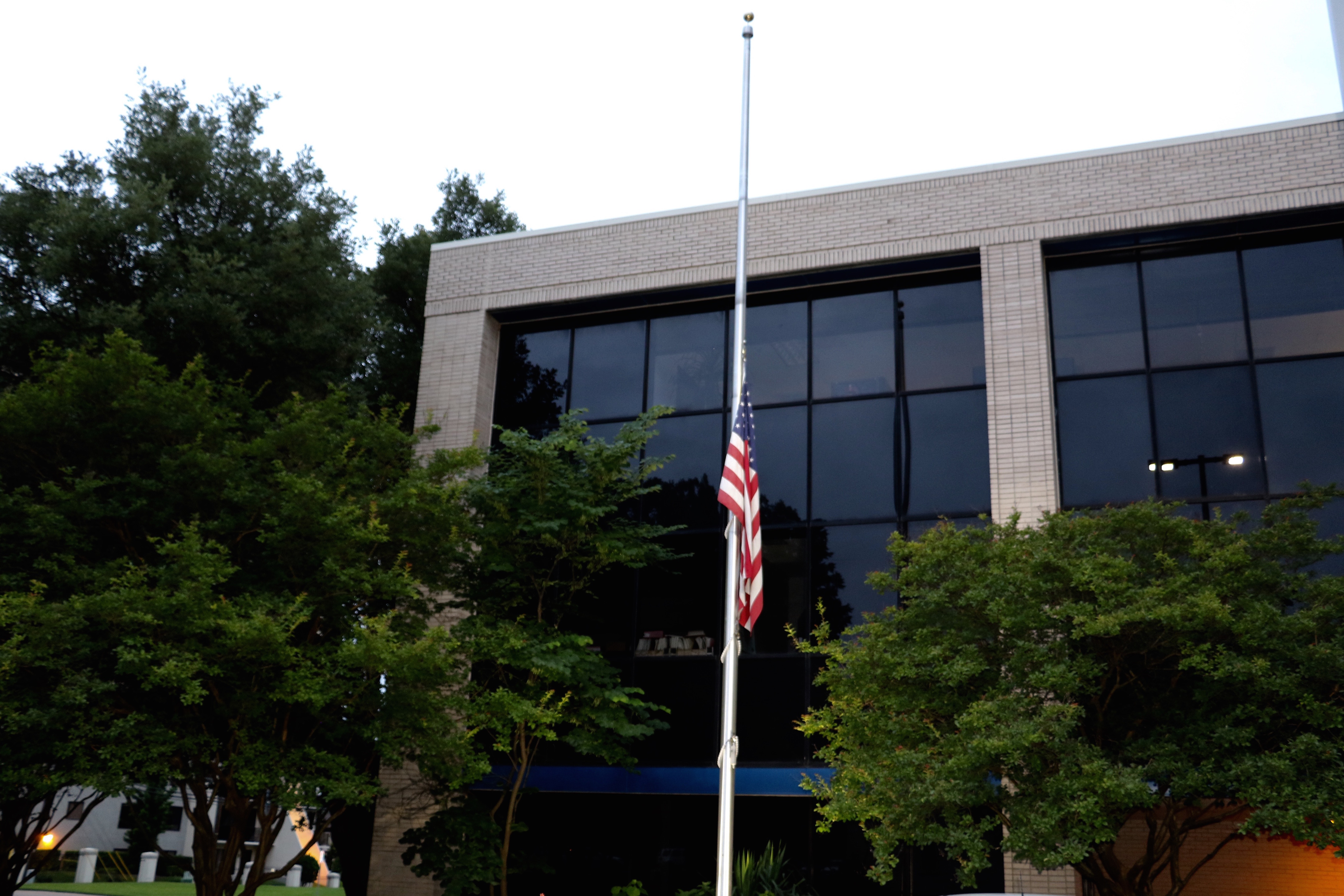 The flag at OWC's Austin facility.