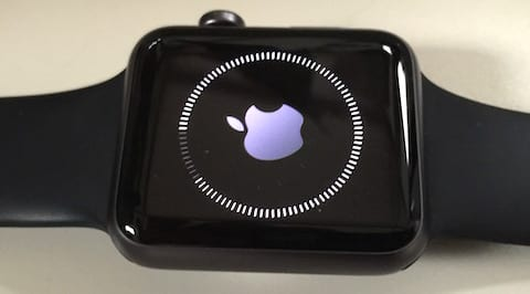 Apple Watch Software Update being installed