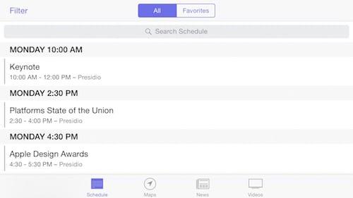 Detail of WWDC 2015 App