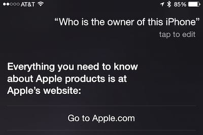 Not very helpful, Siri