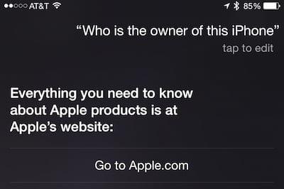 Not very helpful, Siri