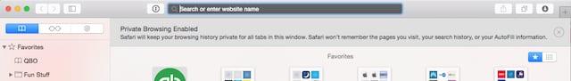 Private Browsing in OS X 10.10 Safari