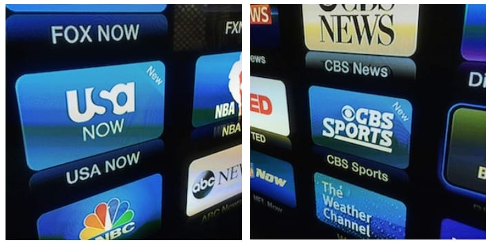 New CBS Sports and USA Now channels on Apple TV