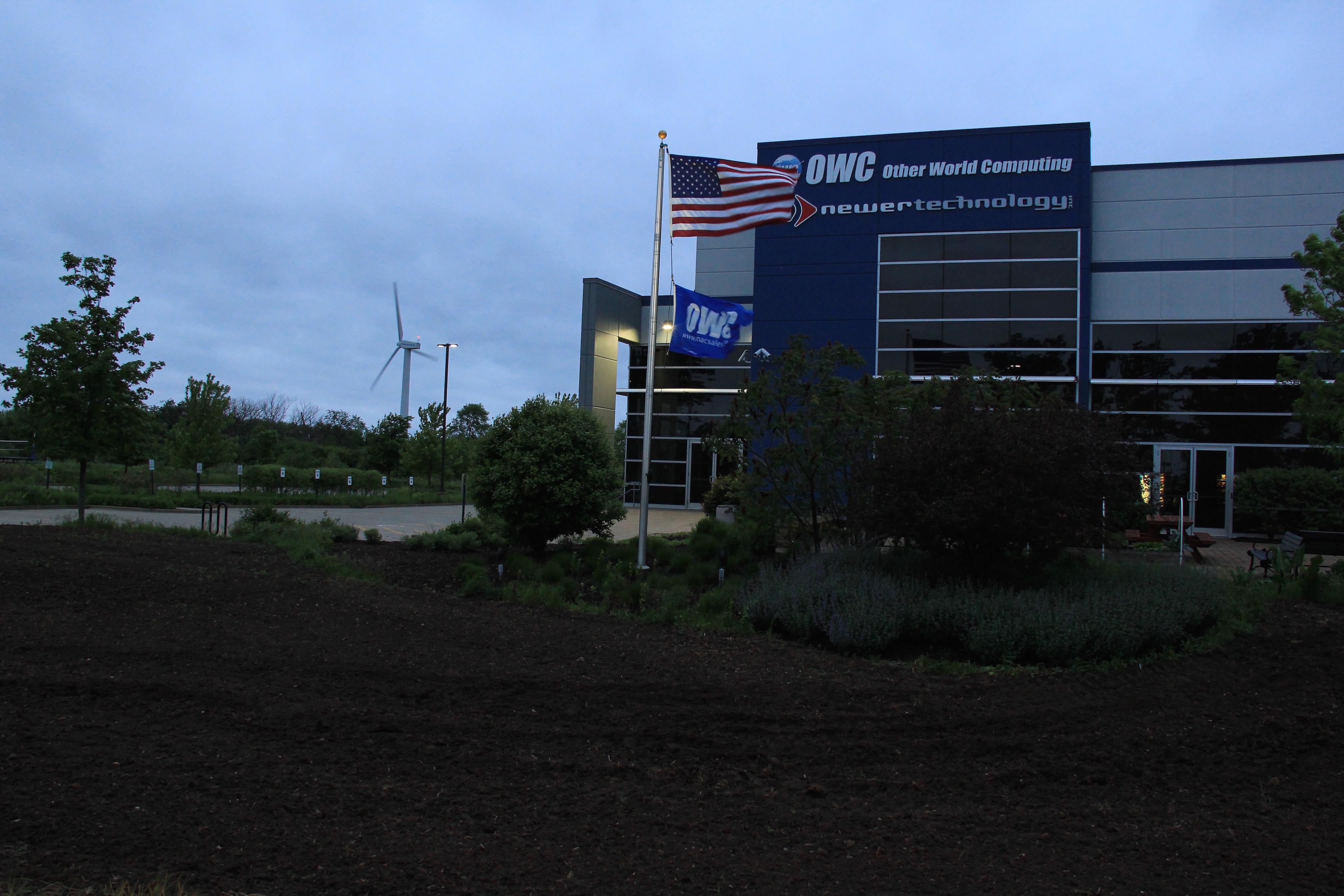 Flag Full Mast Pre-dawn