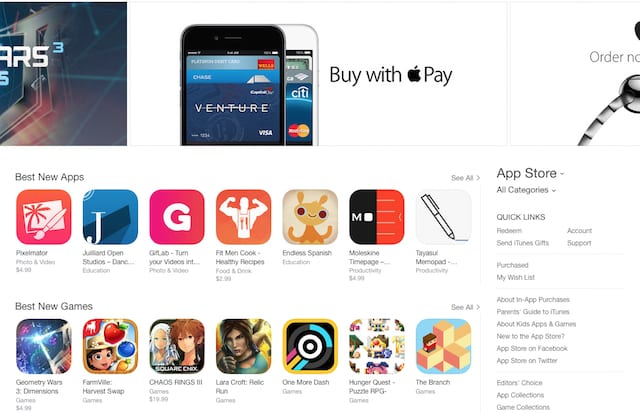 The newly updated app store