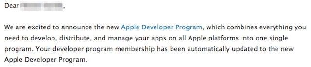 Apple Developer Program Email