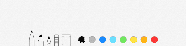 Palette for the Notes sketching tool