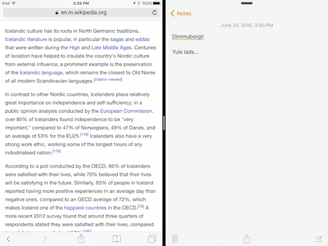 Split Screen: iOS 9