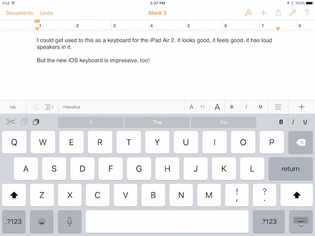iOS 9 Keyboard: Shortcut Bar
