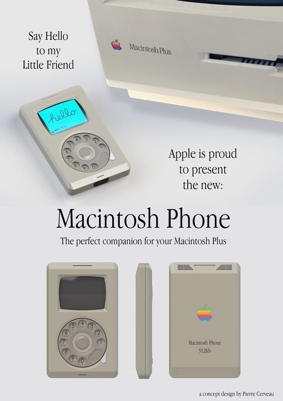 Ad for Macintosh Phone by Pierre Cerveau