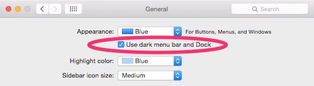 Dark Menu Bar and Dock