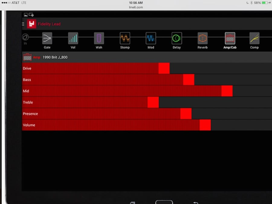 FX 100 Edit Screen 1