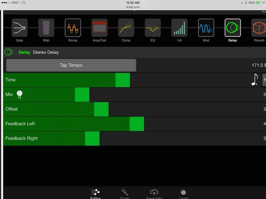 FX 100 Edit Screen 2