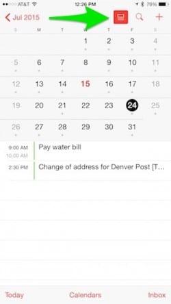 iOS 8 Calendar