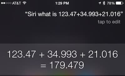 Siri: Addition