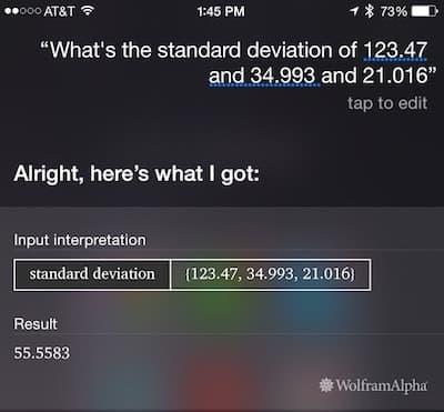 Siri: Standard deviation