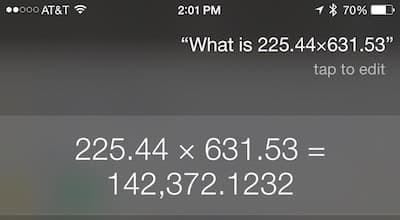 Siri: Multiplication