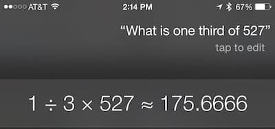 Siri: Fractions