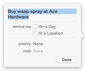 OS X Reminders detail sheet