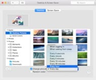 Selecting the duration of a specific desktop image