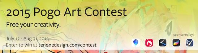 Contest banner: Pogo Art Contest 2015