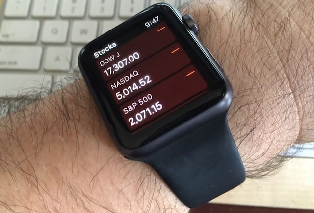 Apple Watch and hairy arm