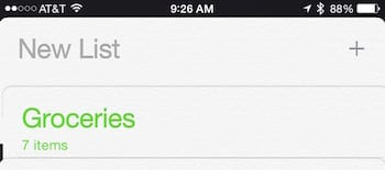 Adding a new list to Reminders