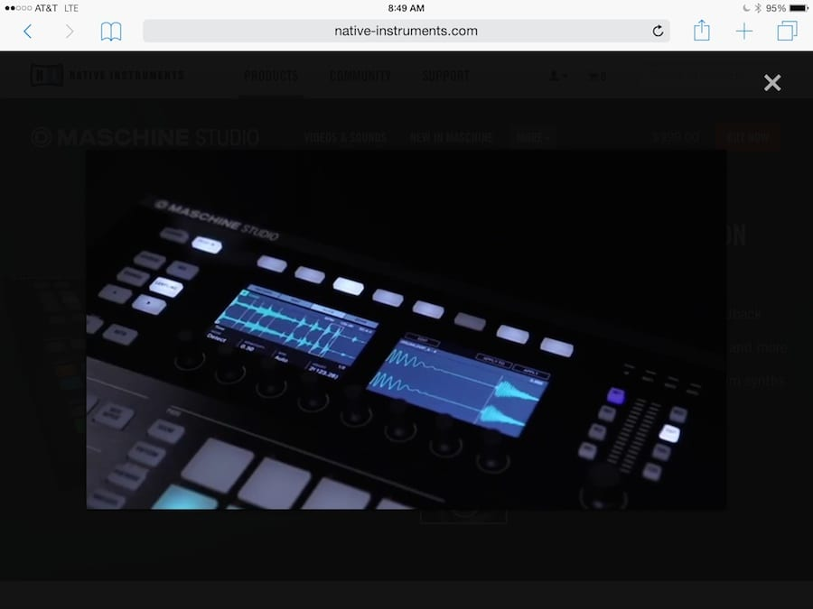 Maschine Edit Screen 1