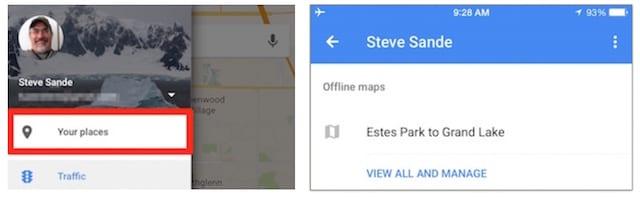 Saving Google Maps for offline use